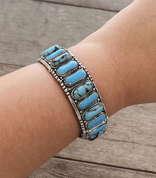 <font color=Turquoise>TURQUOISE JEWELRY</font> :: Wholesale Multi Turquoise Stone Bracelet