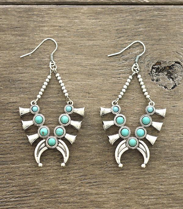 <font color=Turquoise>TURQUOISE JEWELRY</font> :: Wholesale Squash Blossom Earrings