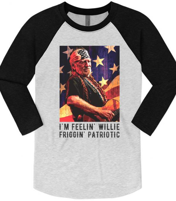 New Arrival :: Wholesale Willie Patriotic Vintage Graphic Raglan
