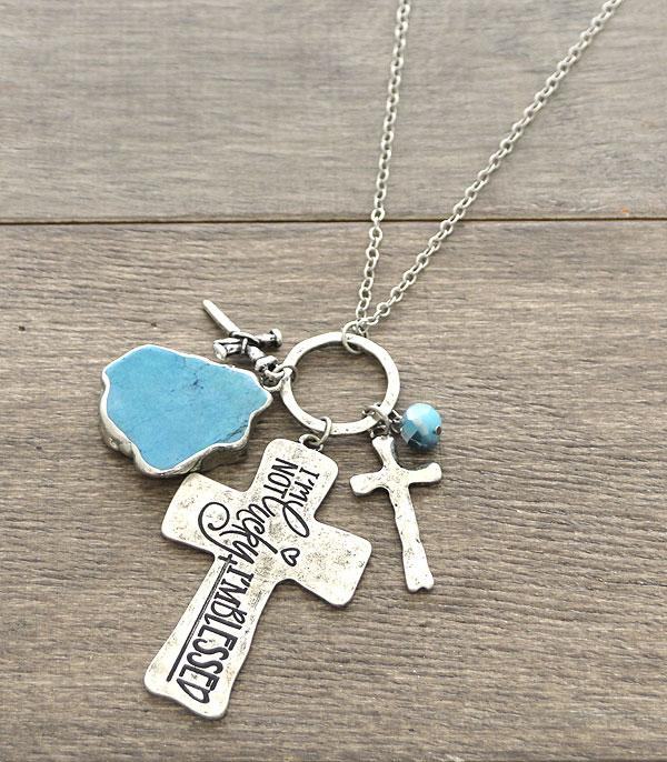 New Arrival :: Wholesale Cross Inspirational Charm Necklace