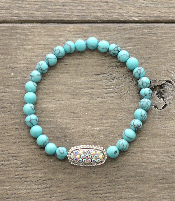 <font color=Turquoise>TURQUOISE JEWELRY</font> :: Wholesale Gem Stone Designer Inspired Bracelet