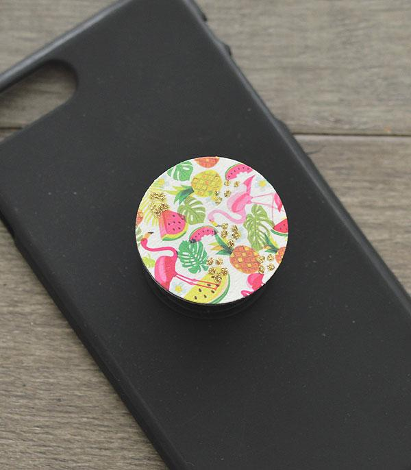 New Arrival :: Wholesale Flamingo Phone Adhesive Charm