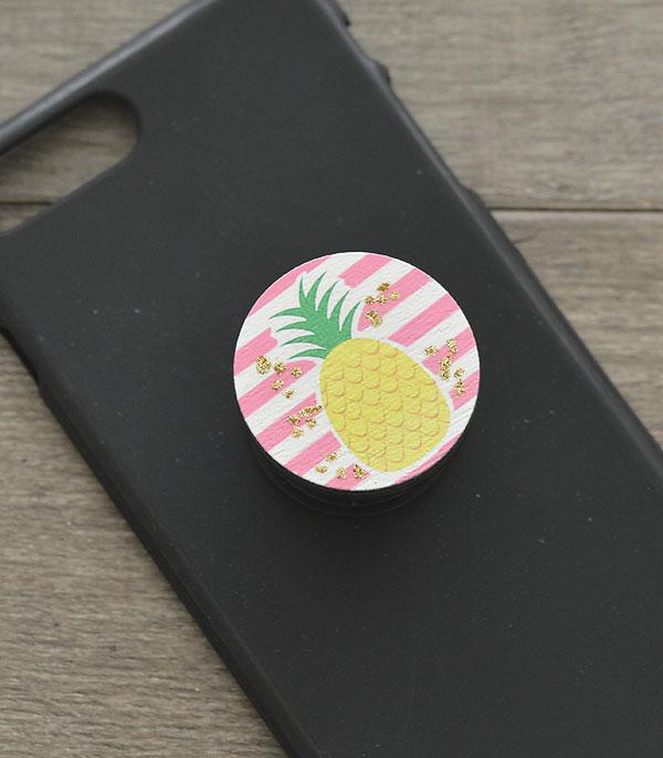 New Arrival :: Wholesale Pineapple Phone Adhesive Charm