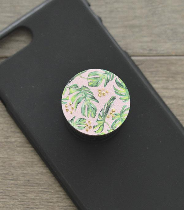 New Arrival :: Wholesale Tropical Leaf Phone Adhesive Charm