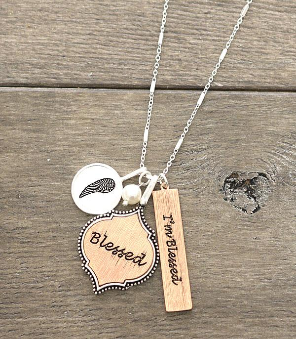 New Arrival :: Wholesale Blessed Charm Silver Necklace