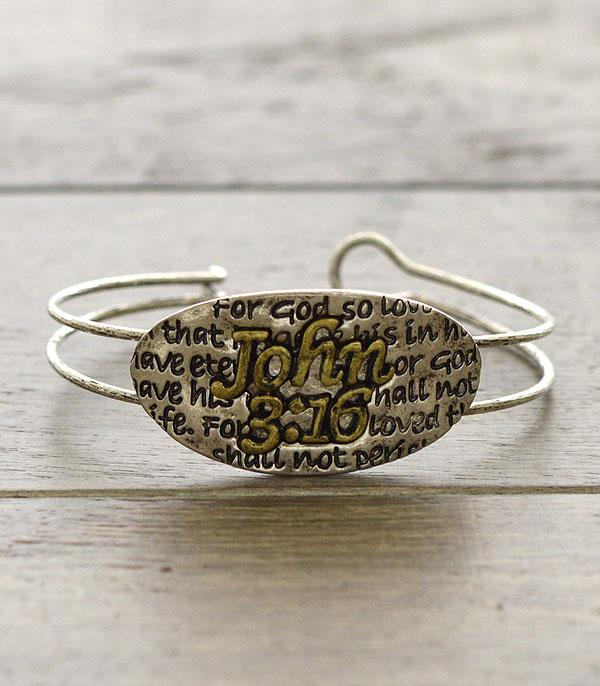 New Arrival :: Wholesale John 3:16 Inspirational Bracelet