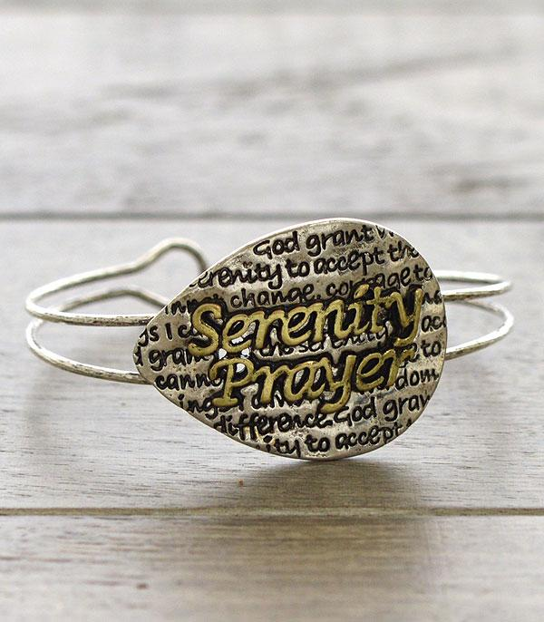 New Arrival :: Wholesale Inspirational Serenity Prayer Bracelet