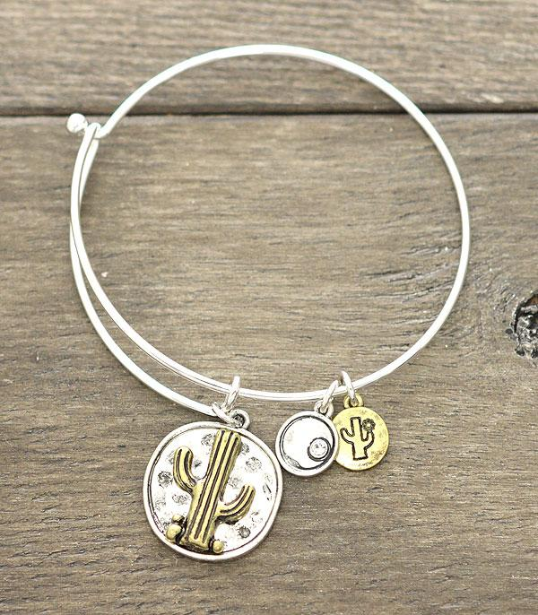 New Arrival :: Wholesale Western Cactus Charm Bangle