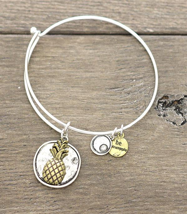 New Arrival :: Wholesale Pineapple Charm Bangle