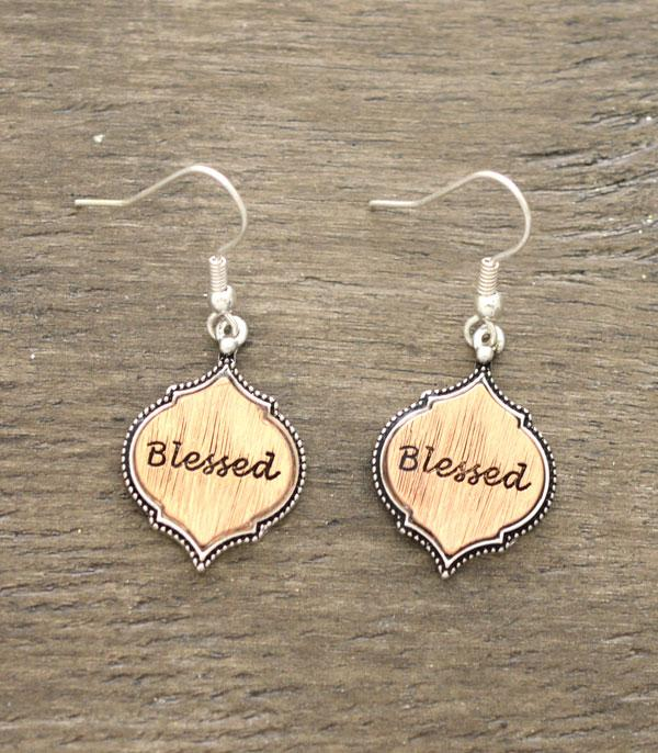 New Arrival :: Wholesale Blessed Silver Earrings