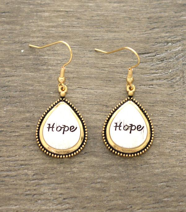New Arrival :: Wholesale Hope Inspirational Earrings