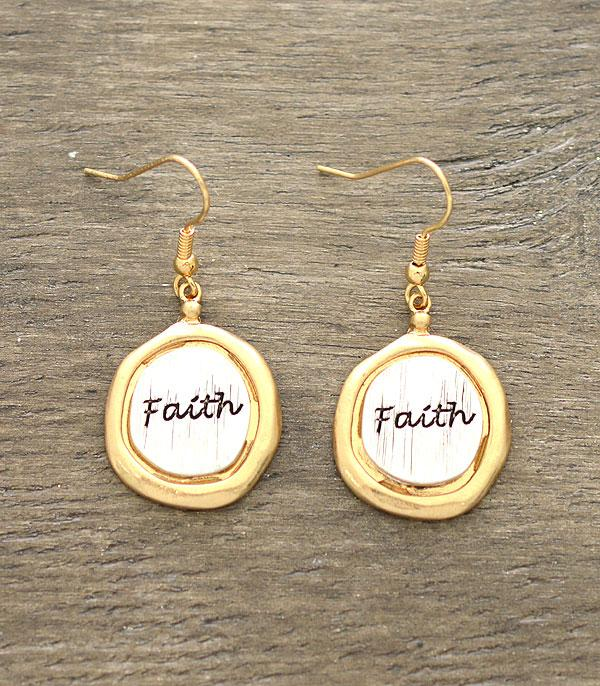 New Arrival :: Wholesale Inspirational Faith Earrings