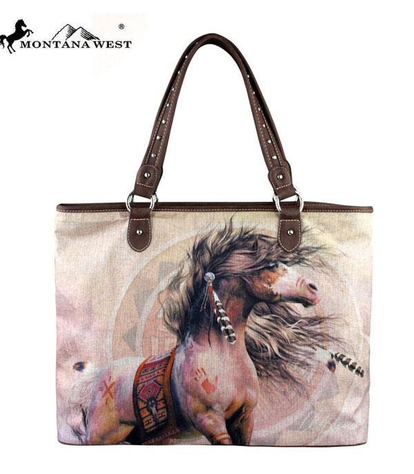 New Arrival :: Wholesale Montana West Horse Canvas Tote