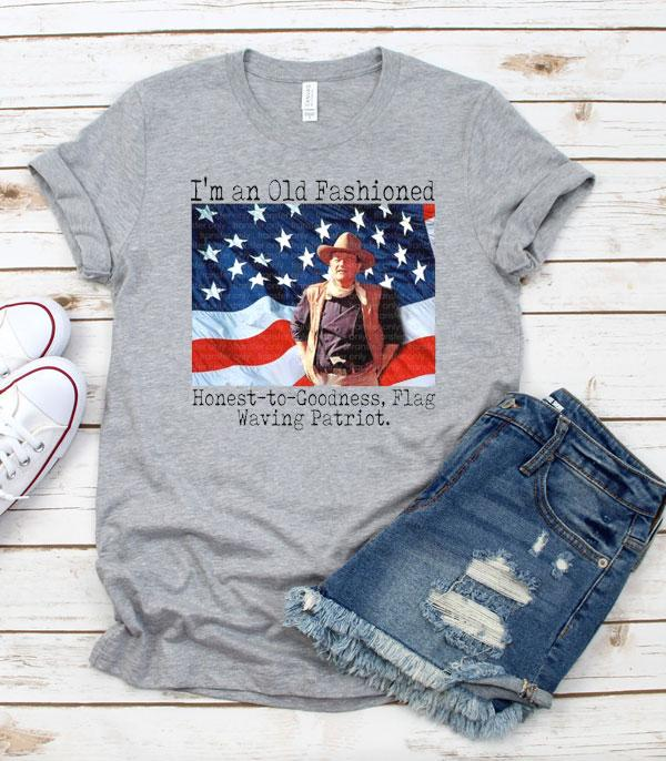 New Arrival :: Wholesale Western Patriotic USA Graphic TShirt