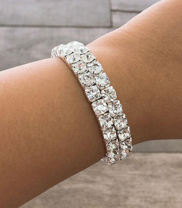 New Arrival :: Wholesale Rhinestone Double Coil Bracelet