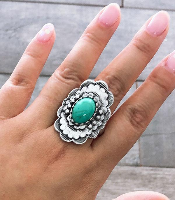 New Arrival :: Wholesale Western Turquoise Silver Ring
