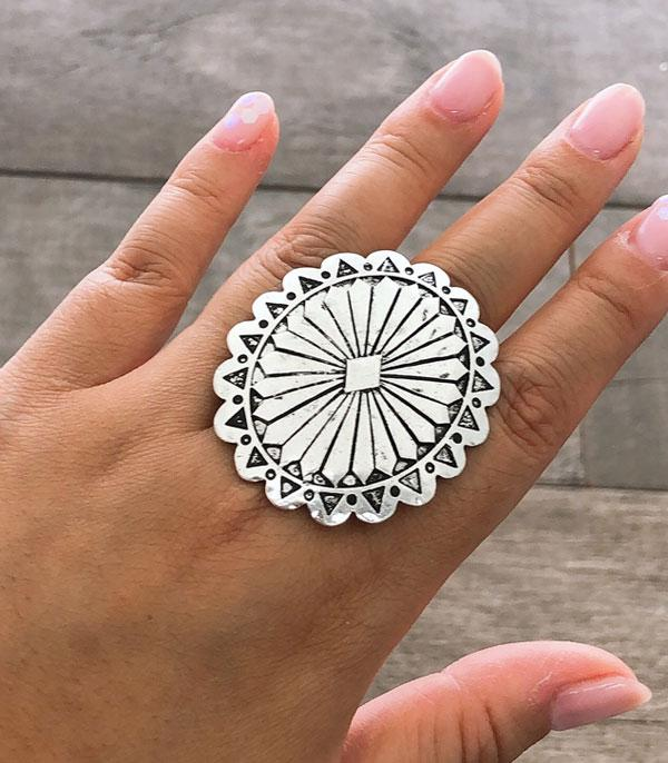 New Arrival :: Wholesale Western Concho Silver Ring