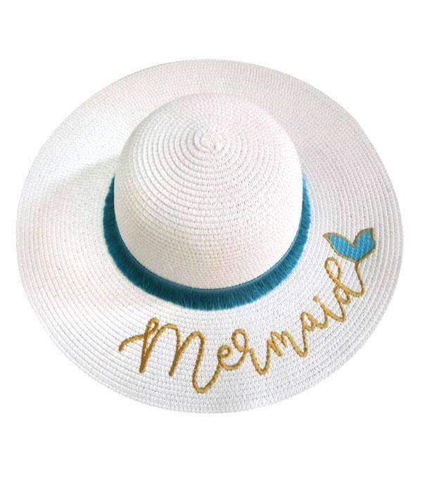 New Arrival :: Wholesale Mermaid Tassel Straw Beach Hat