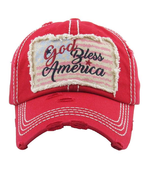 New Arrival :: Wholesale God Bless America Vintage Ballcap