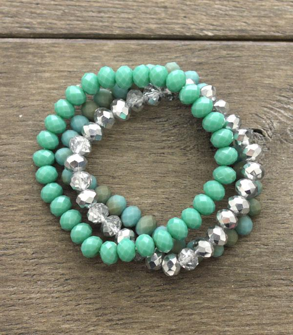 WHAT'S NEW :: Wholesale Crystal Bead Bracelet Set