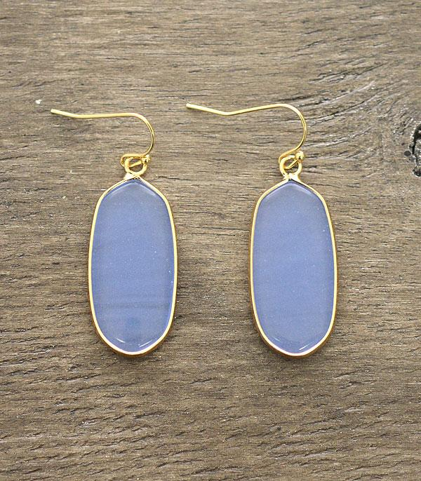 WHAT'S NEW :: Wholesale Semi Precious Stone Oval Earrings