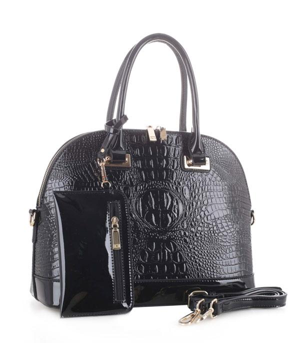 New Arrival :: Wholesale Crocodile Satchel Pouch Set Bag
