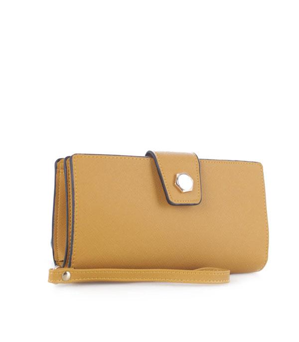 New Arrival :: Wholesale Faux Leather Wallet Wristlet