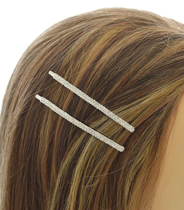 New Arrival :: Wholesale Thin Rhinestone Hair Pin Set