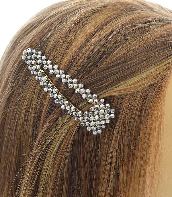 New Arrival :: Wholesale Crystal Beads Oversized Hair Barette