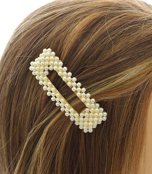 New Arrival :: Wholesale Pearl Oversized Hair Barrette