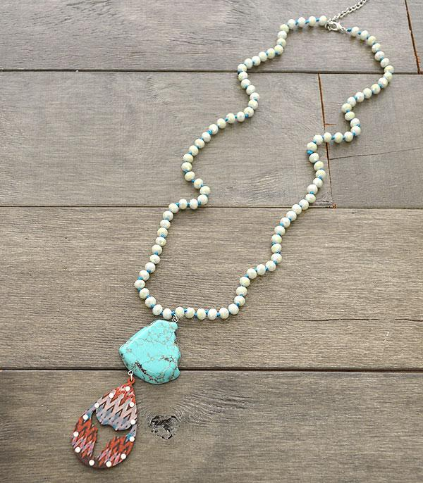 <font color=Turquoise>TURQUOISE JEWELRY</font> :: Wholesale Western Turquoise Beaded Necklace
