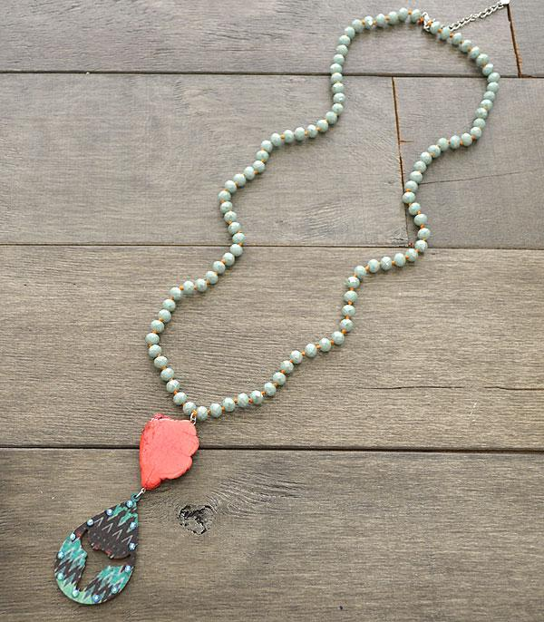 New Arrival :: Wholesale Western Turquoise Beaded Necklace