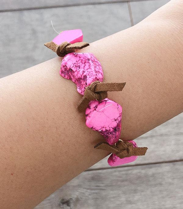 WHAT'S NEW :: Wholesale Pink Turquoise Stone Bracelet