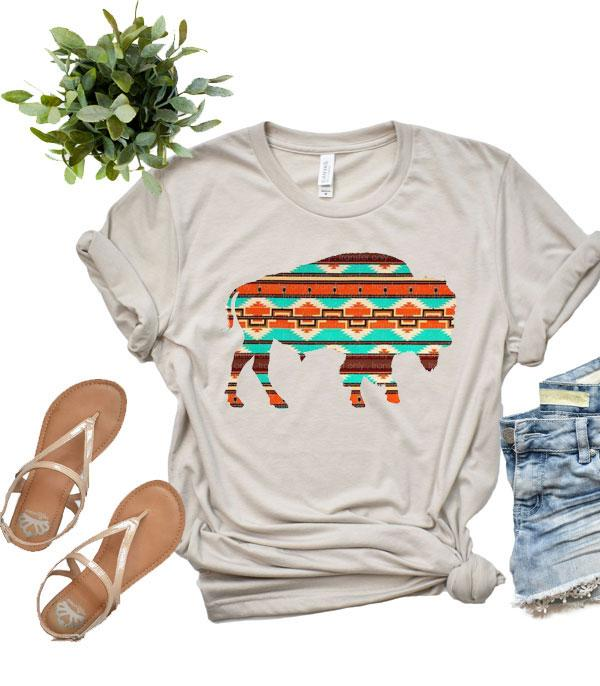 New Arrival :: Wholesale Western Boho Buffalo Vintage T-Shirt
