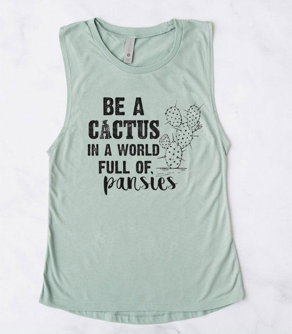 WHAT'S NEW :: Wholesale Western Vintage Cactus Muscle Tank