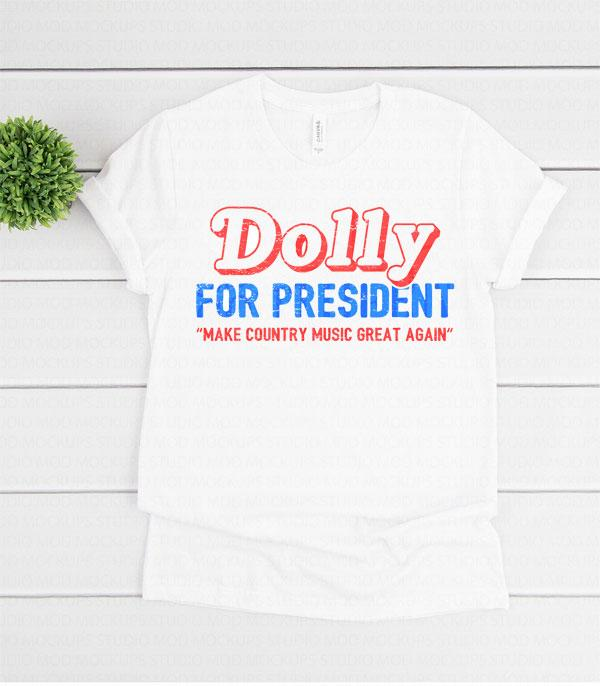 New Arrival :: Wholesale Western Dolly For President T-Shirt
