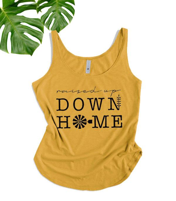 New Arrival :: Wholesale Western Raised Up Down Home Tank