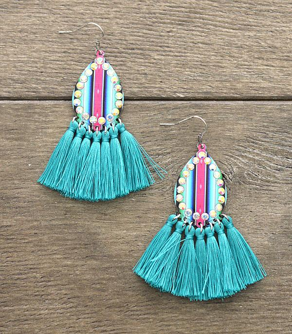 New Arrival :: Wholesale Serape Tassel Earrings
