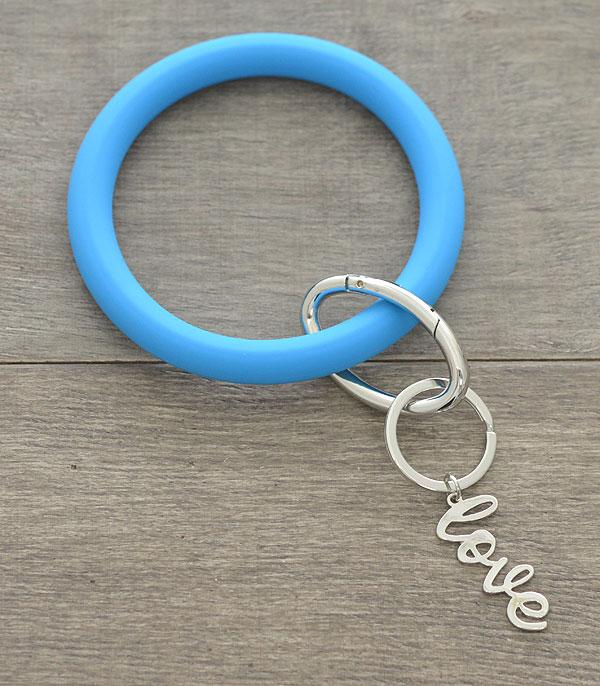 New Arrival :: Wholesale Silicone Bangle Keychain w/Charms