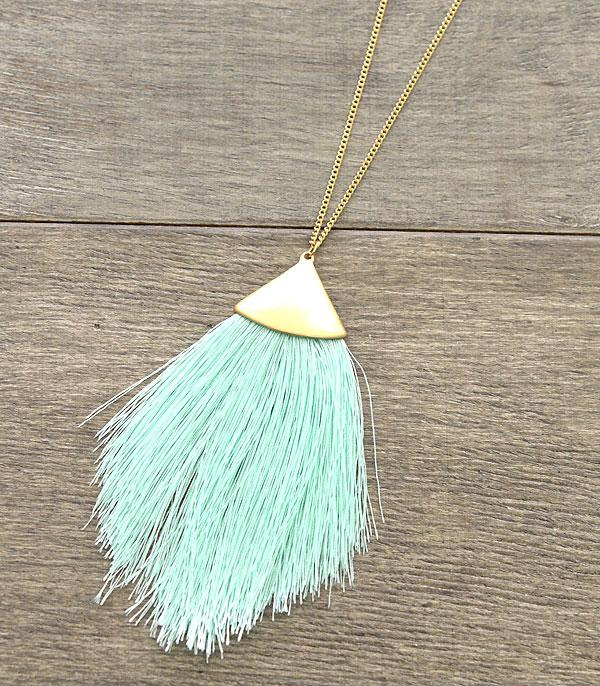 New Arrival :: Wholesale Fine Thread Tassel Necklace