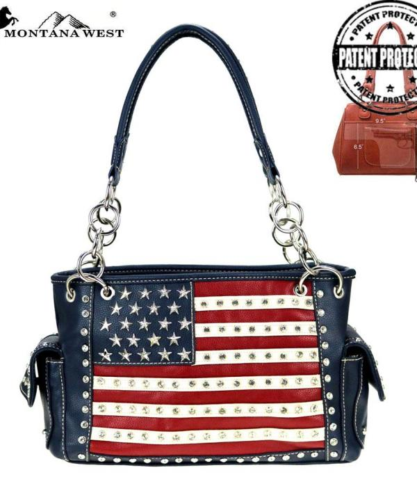 <font color=BLUE>RED,WHITE, AND BLUE</font> :: Wholesale Montana West American Pride Bag