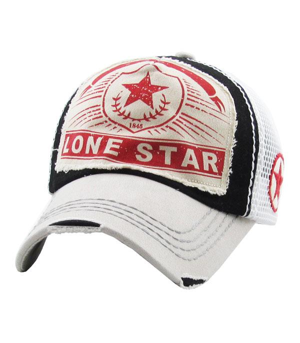 New Arrival :: Wholesale Lone Star Vintage Mesh Hat