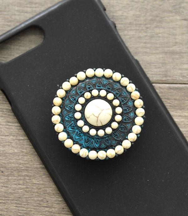 New Arrival :: Wholesale Western Turquoise Phone Grip