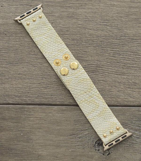 New Arrival :: Wholesale Snake Skin Leather Apple Watch Band