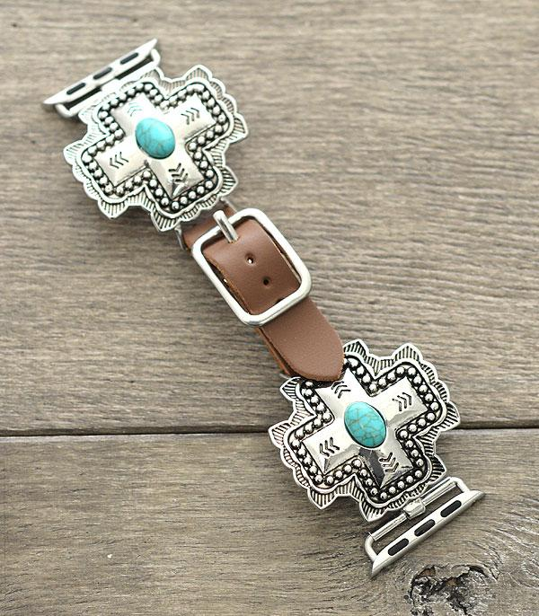 New Arrival :: Wholesale Western Cross Leather Apple Watch Band