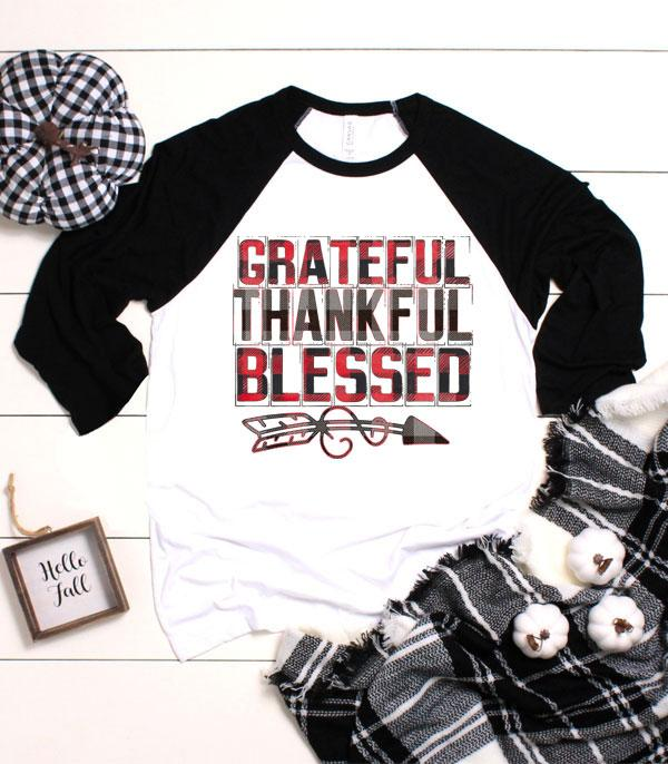 WHAT'S NEW :: Wholesale Grateful Thankful Blessed Vintage Raglan