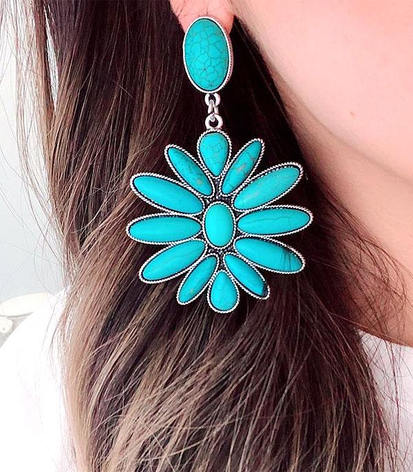 WHAT'S NEW :: Wholesale Western Turquoise Clip Earrings
