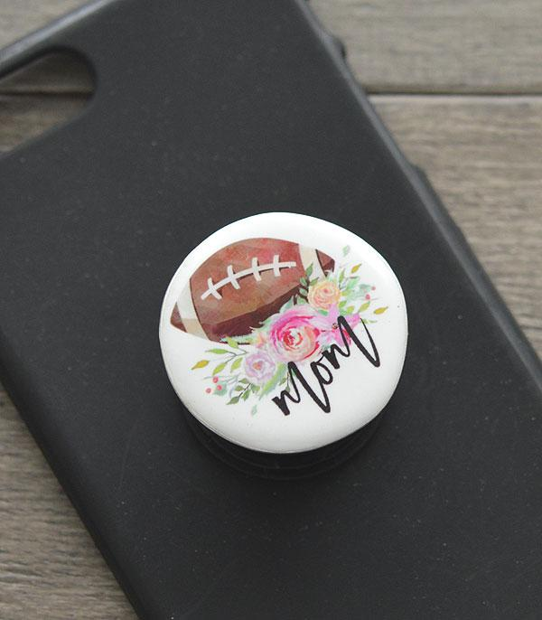 PHONE ACCESSORIES :: Wholesale Football Mom Phone Grip Charm