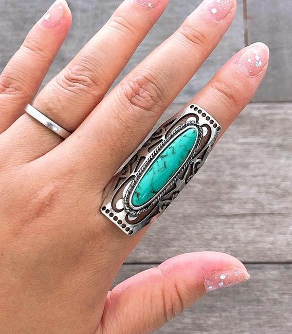 New Arrival :: Wholesale Western Turquoise Cuff Ring