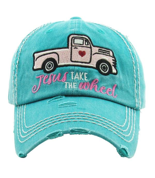 New Arrival :: Wholesale Jesus Take The Wheel Vintage Ballcap